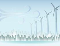 ветреное города урбанское Стоковые Фото