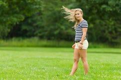 Ветреный момент стоковая фотография rf