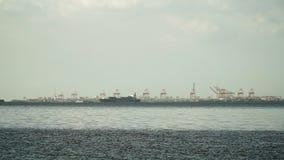 Ветрила грузового корабля на море Филиппины, Манила Стоковые Изображения