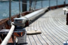 ветрило веревочки шлюпки Стоковая Фотография RF