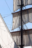 Ветрила и такелажирование яхты Barquentine Стоковое Фото