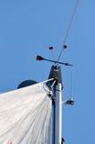 Ветрило на яхте Стоковое Фото
