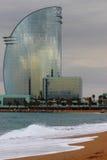 Ветрило небоскреба в Барселоне стоковое изображение