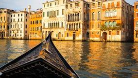 Ветрило шлюпки гондолы в Венеции Стоковое Фото