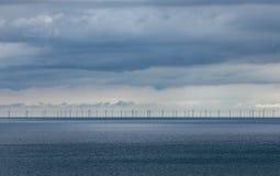 Ветровая электростанция офф-шорный Брайтон Стоковые Фотографии RF