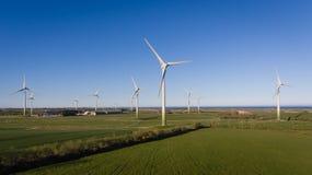 Ветровая электростанция Ballywater Wexford Ирландия стоковое изображение