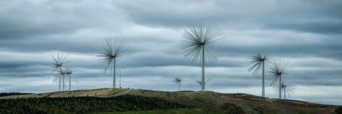 Ветровая электростанция в Ирландии Стоковые Изображения RF