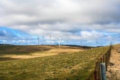 Ветровая электростанция на скотоводческом хозяйстве Стоковая Фотография