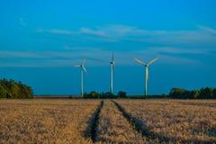 Ветровая электростанция - сила Стоковые Изображения RF