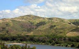 Ветровая электростанция Фиджи Стоковая Фотография