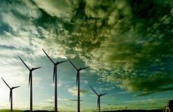 Ветровая электростанция Стоковое Изображение RF