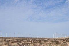 Ветровая электростанция, El Jable, Фуэртевентура Стоковое Изображение RF