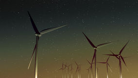 Ветрогенераторы (заход солнца) Стоковая Фотография RF