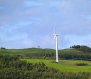 Ветротурбина, грациозно, сельская идиллия Стоковое Изображение RF