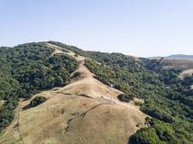 Ветротурбина на горе Стоковое Изображение RF
