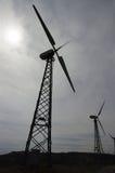 Ветротурбина, силуэт стоковое изображение
