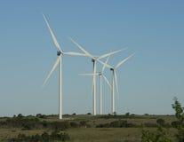Ветротурбины, ветровая электростанция горы Arbuckle Стоковые Фотографии RF