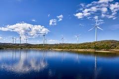 Ветротурбины в Норвегии, Скандинавии Стоковая Фотография