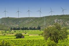 Ветротурбины в Франции Стоковое Фото