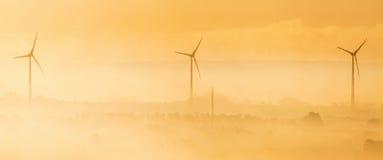 Ветротурбины в sunrice Стоковое Изображение RF