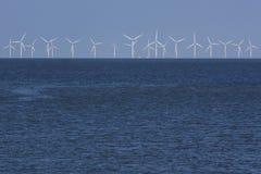 Ветротурбины над морем Стоковая Фотография