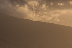Ветротурбины на гребне в Мауи Стоковая Фотография RF