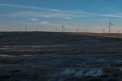 Ветротурбины на равнинах Стоковые Изображения