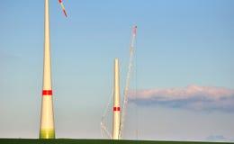 Ветротурбины под конструкцией. Стоковое Изображение RF