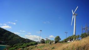 Ветротурбины, станция альтернативной энергии Promthep, Пхукет сток-видео