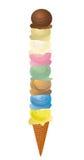 8 ветроуловителей мороженого Стоковые Фотографии RF
