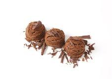 Ветроуловители мороженого шоколада Стоковое фото RF