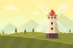 ветрянка ландшафта сельская Стоковая Фотография