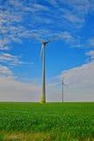 ветрянка ветра турбины силы энергии зеленая самомоднейшая Стоковые Фото