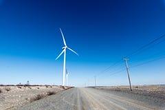 ветрянка ветра турбины силы энергии зеленая самомоднейшая Стоковое Изображение RF