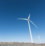 ветрянка ветра турбины силы энергии зеленая самомоднейшая Стоковые Изображения RF