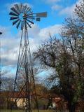 Ветрянка во французской сельской местности стоковое фото rf