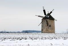 Ветрянка в зиме Стоковая Фотография RF