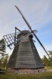 Ветрянка в под открытым небом музее в Olsztynek (Польша) Стоковая Фотография RF