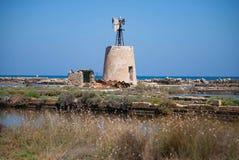 Ветрянка в Сицилии Стоковые Фотографии RF
