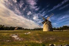 Ветрянка в Faro, Швеции стоковые фотографии rf