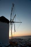 Ветрянка в Mykonos Стоковое Фото