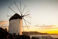 Ветрянка в Mykonos Стоковое Изображение RF