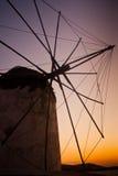Ветрянка в Mykonos Стоковые Фотографии RF