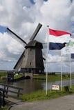 Ветрянка в Schermer Голландии Стоковые Изображения