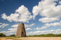 Ветрянка в Zvarde, Латвии Стоковые Фотографии RF