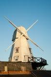 ветрянка захода солнца рожи Стоковая Фотография