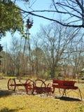 Ветрянка & колеса телеги Стоковая Фотография