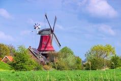 Ветрянка красного цвета Greetsiel Стоковое Изображение