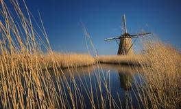 Ветрянка на Kinderdijk Стоковые Фото