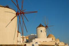Ветрянка на Santorini Стоковая Фотография RF